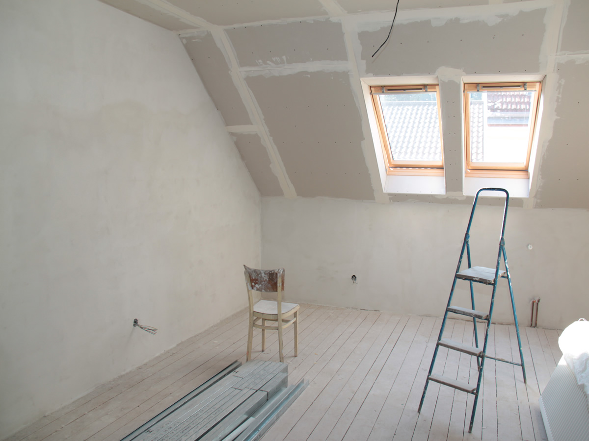 attic and loft conversion for house in pe