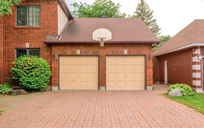 brick double garage