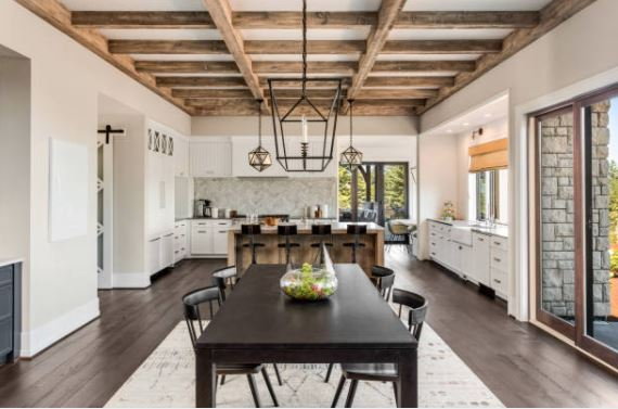Changing a dining room into a kitchen